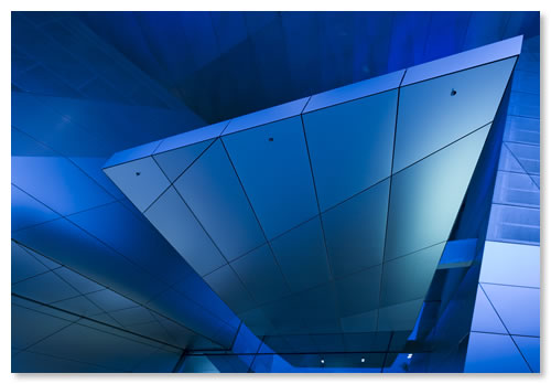 BMW Welt - cold blue